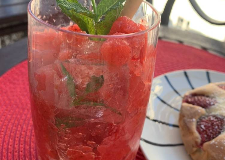Easiest Way to Cook Yummy Granité aux fraises