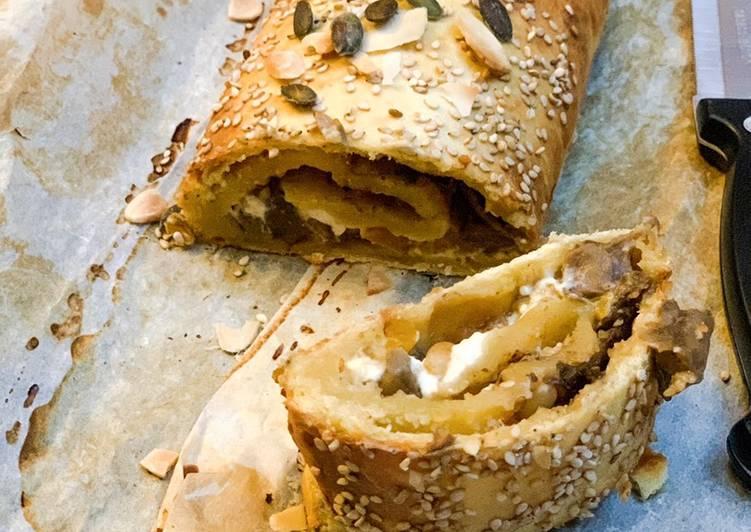 Ricetta Strudel Funghi, Zucca&Feta