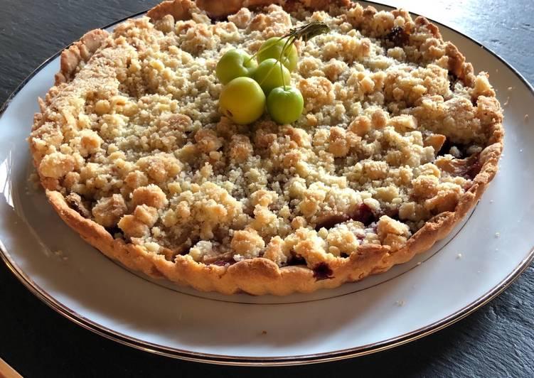 Comment Préparer Les Tarte crumble pommes framboises
