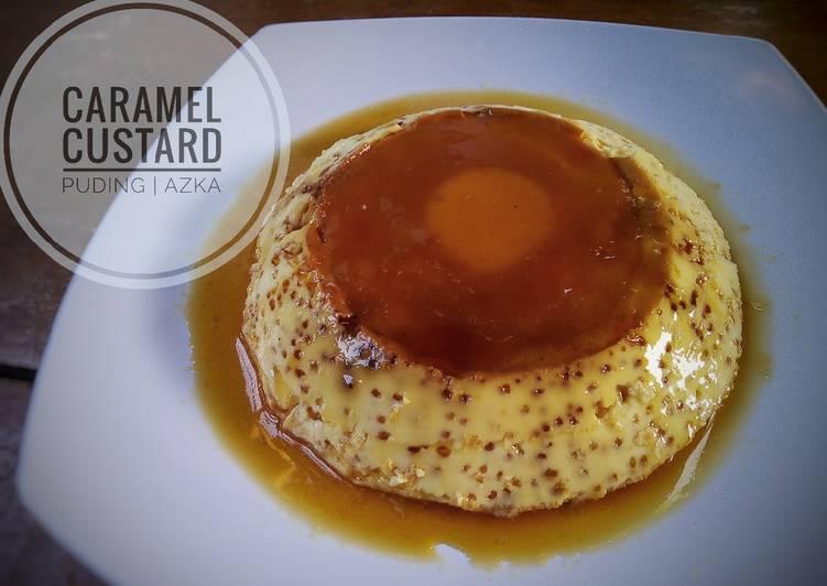 Caramel custard puding (kukus)