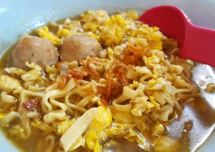 Resep Mie rebus simple non msg untuk balita Paling Enak