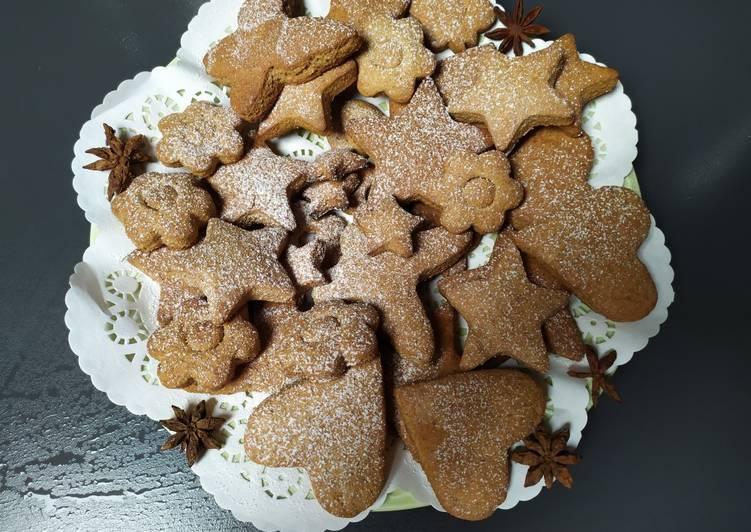 Biscotti integrali,con zenzero cannella e 🍯 miele