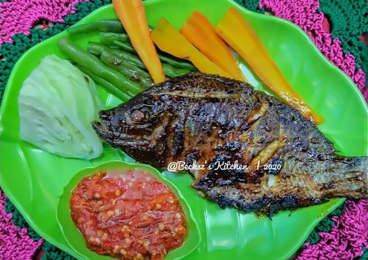 Resep 120. Ikan Mujaer Bakar Bumbu Kecap + Sambalado Khas Padang yang Menggugah Selera