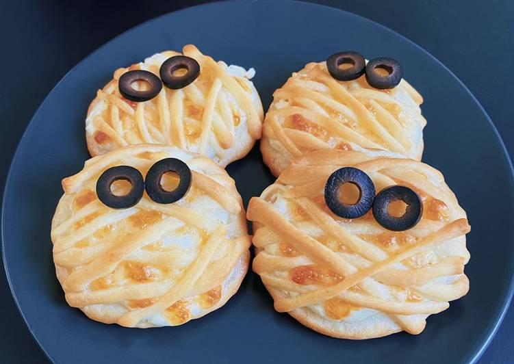 Recette De Pizzas momies au fromage 🎃