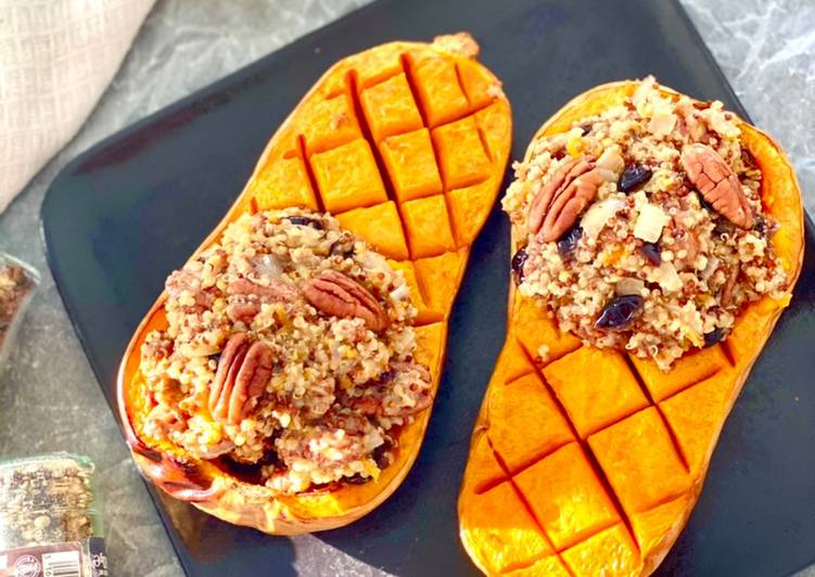 Le moyen le plus simple de Faire Savoureux Courge butternut farcie au quinoa