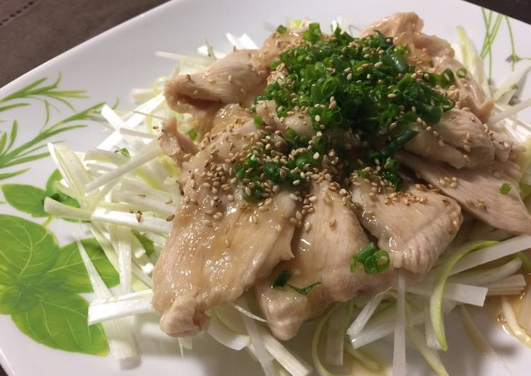 Chicken breast and Spring Onion Salad