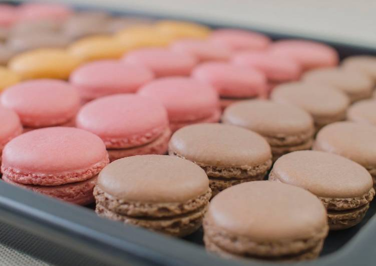 Step-by-Step Guide to Prepare Ultimate PARISIAN MACARONS (chocolate macarons)★Recipe video★