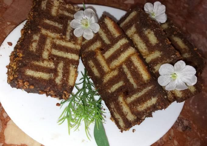 Gâteau au étages choco vanille