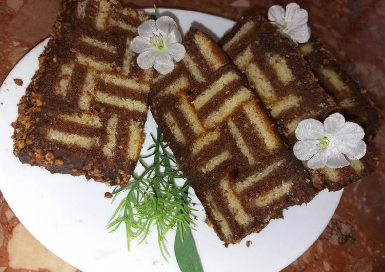 Recette Savoureux Gâteau au étages choco vanille