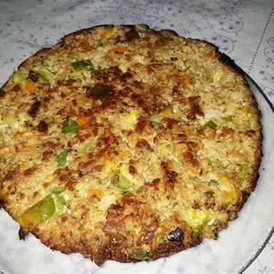Tortilla de zapallitos y soja texturizada