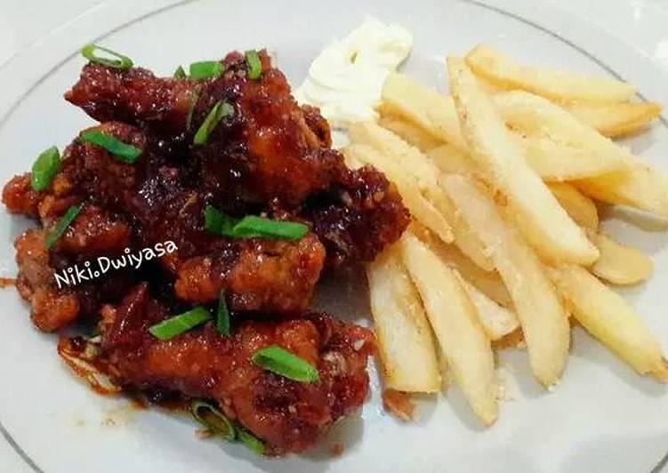 Resep Ayam Saus Madu Holdak Korea Oleh Niki S Tummy Cookpad
