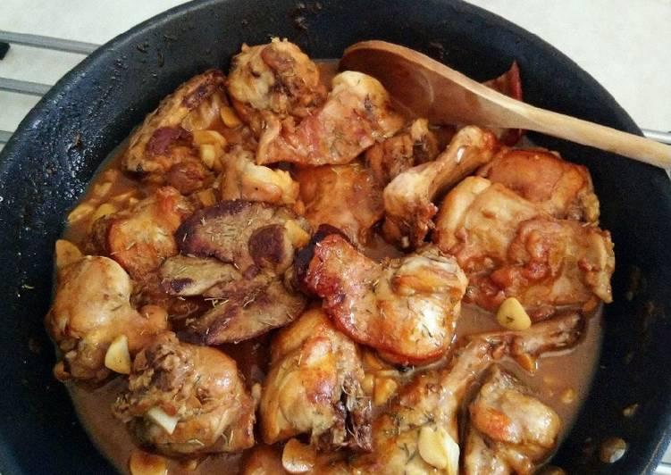 Conejo en salsa (receta de Alberto chicote)