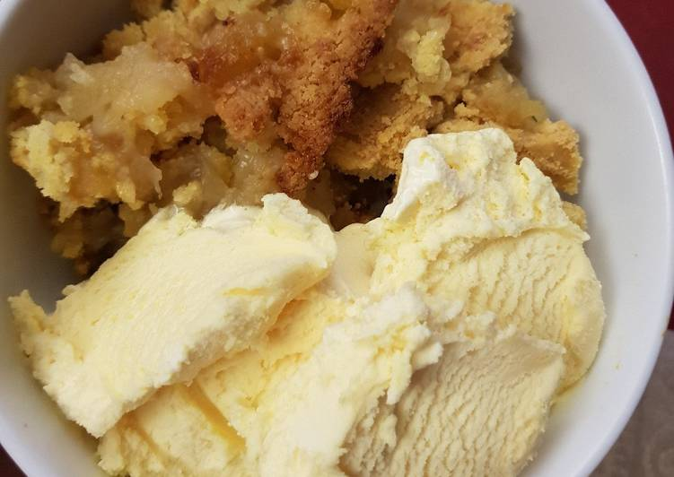 Simple Granny Smith apple crumble