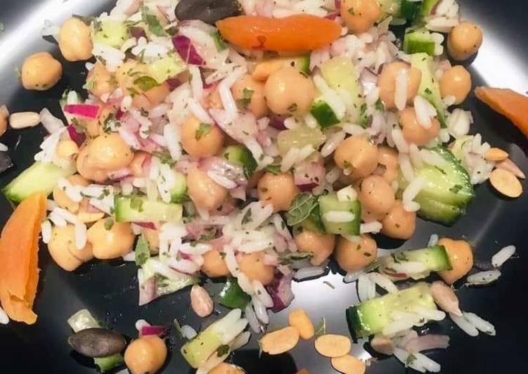 Salade croquante sucrée-salée de Riz