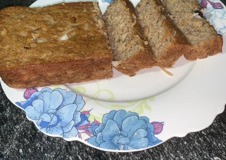 Oats flour banana bread