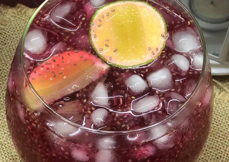 Sirap Selasih Lime - resepipouler.com
