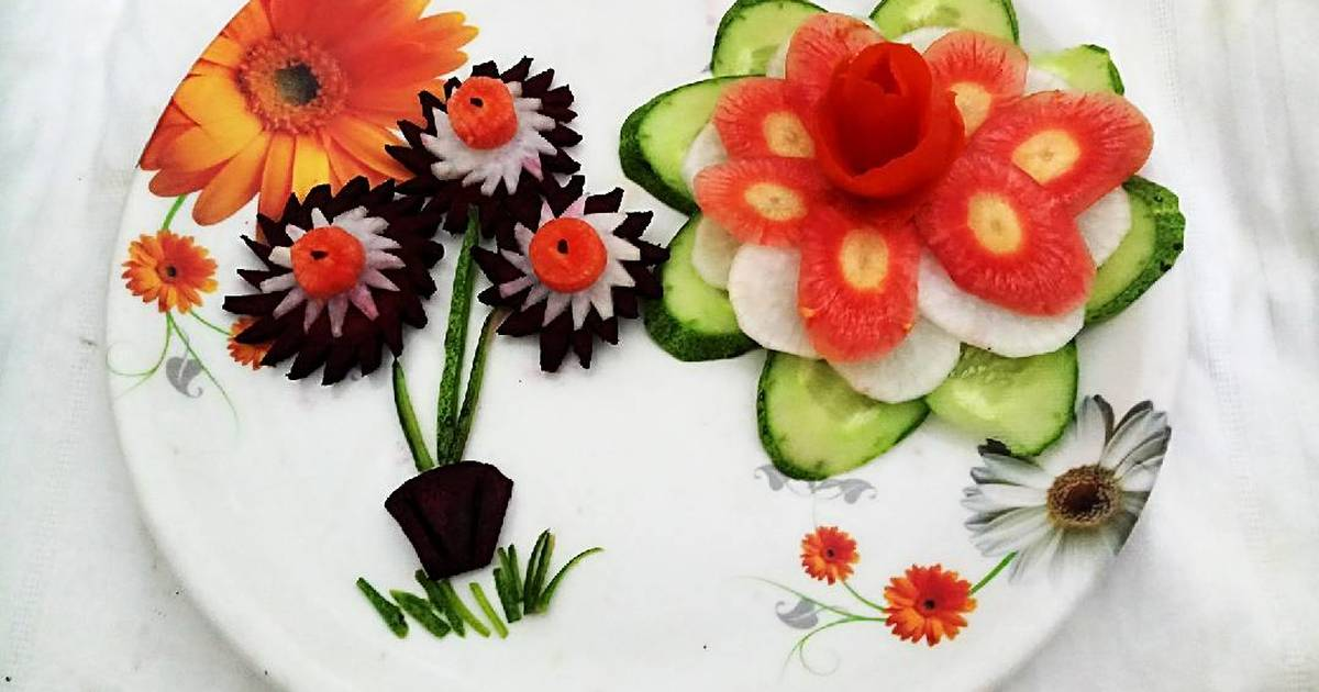 Image result for vegetable and flower garnishing