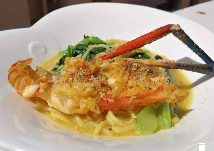 Recipe: Perfect White Hokkien Mee with River Prawn Top SichuanPepper