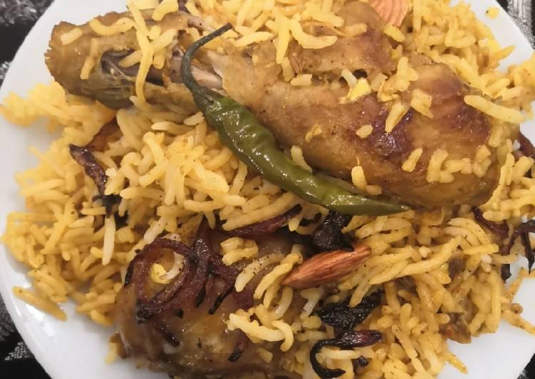 Recipe: Yummy Malai chicken drumstick biryani