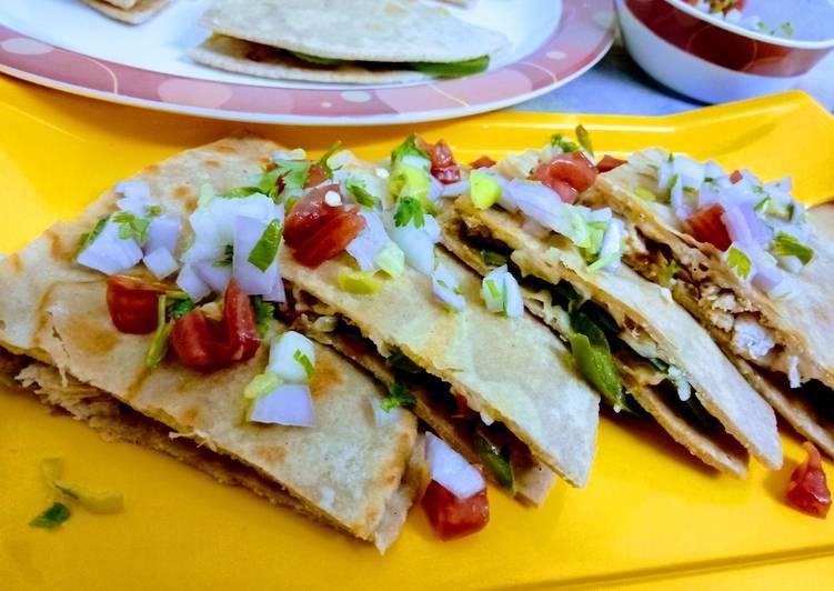 Recipe of Ultimate Chicken Quesadillas with Pico de Gallo