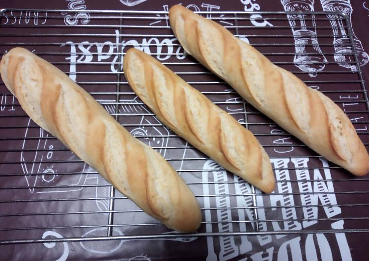 Baguettes levain sur levure (poolish)