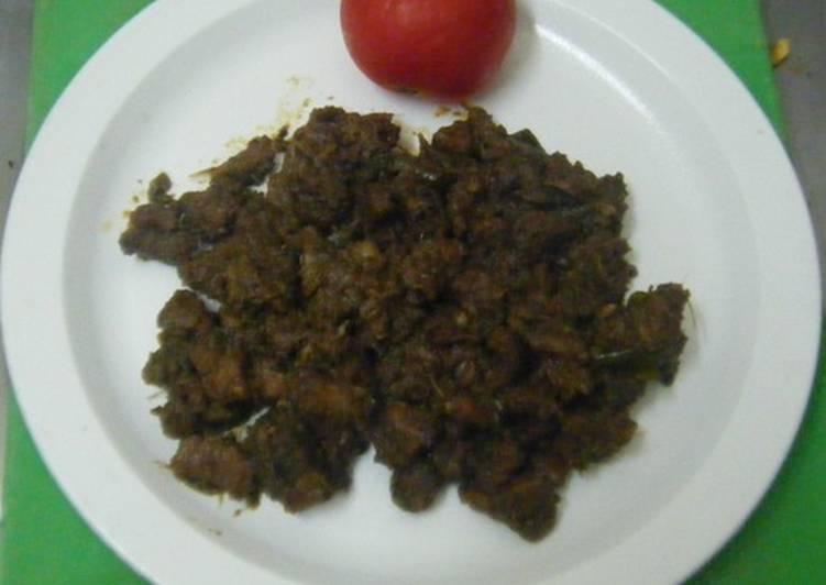 How to Make HOT Potti Ularthiyathu(cleaned intestine of goat / buffalo)