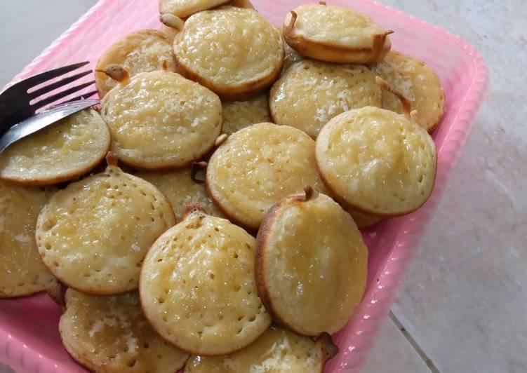 Bagaimana Membuat Martabak manis keju mini empuk, Sempurna