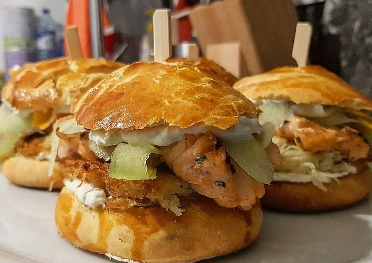 Top 10 Meilleures Recettes de 14• Burger Maison : Pavé de saumon