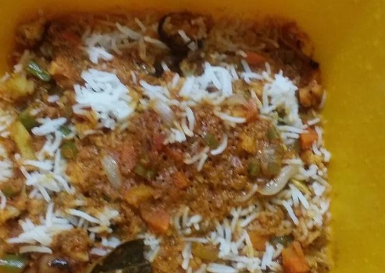 Recipe of Perfect Shahi dum biryani in microwave