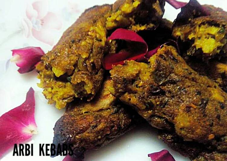 Easiest Way to Prepare Quick Arbi kebabs