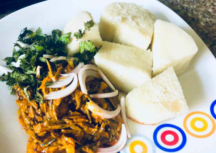 What is Dinner Ideas Love Boiled with ugba sauce(oil bean)