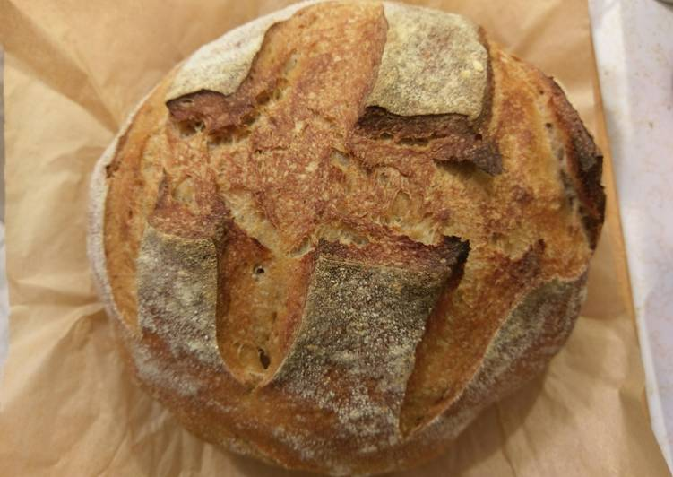 Easiest Way to Make Tasty Basic sourdough bread