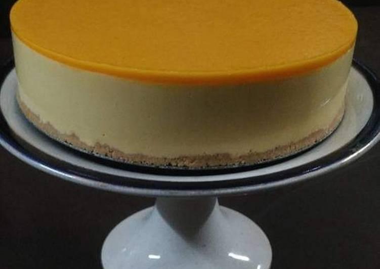 Recipe of Ultimate No Bake Mango Cheesecake