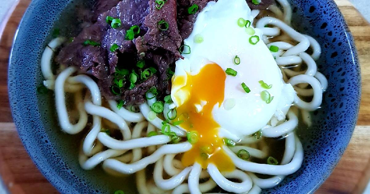 Beef Udon Noodles Soup Recipe By Kezia S Kitchen Cookpad