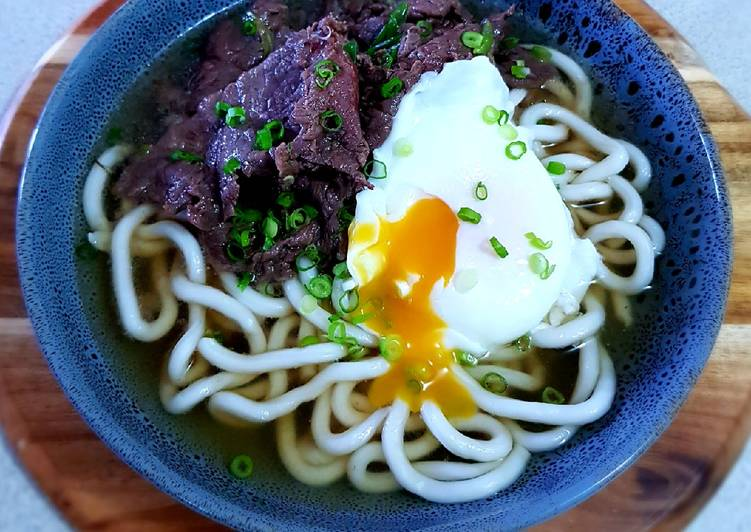 Recipe of Favorite Beef Udon Noodles Soup