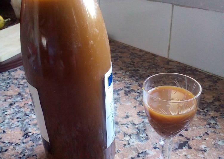 como hacer líquido de caramelo de calostro casero