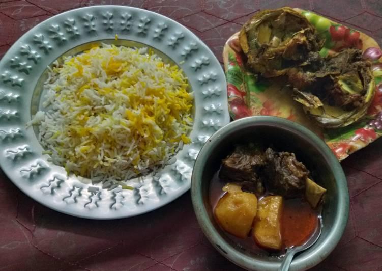 Easiest Way to Make Ultimate Khuska pulao and korma