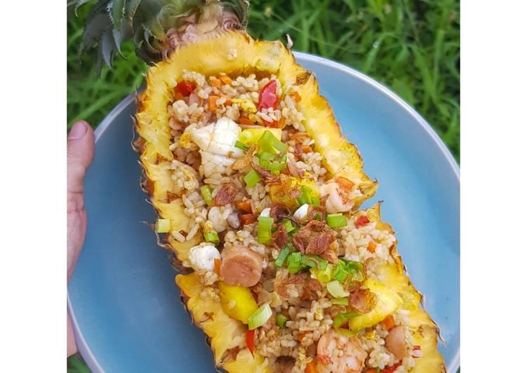 50.Nasgor Nanas Thailand (Khao Pad Sapparot) Rumahan🍍🍚😍 – All Recipes Cookbooks