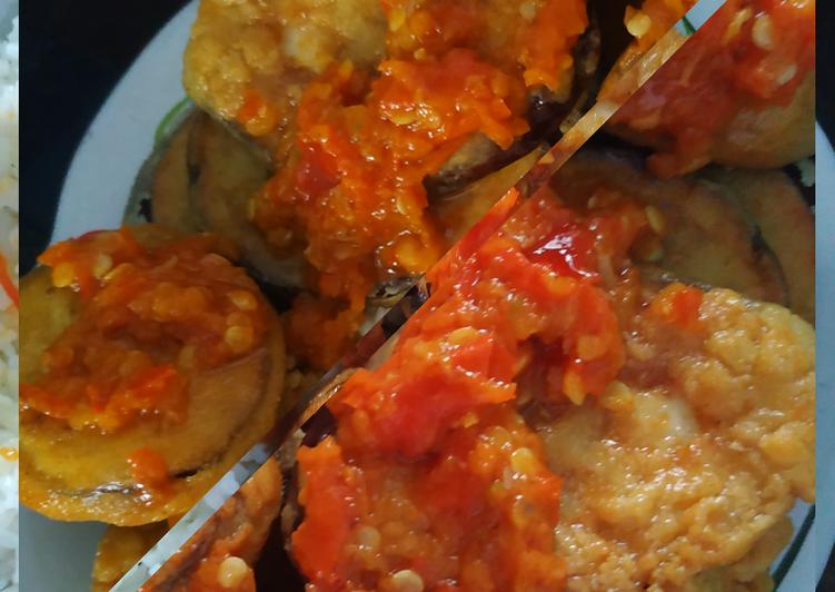 Terong goreng tepung & sambel bawang