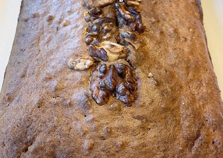 Recette Délicieuse Gâteau banane et noix 🤎