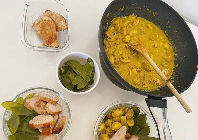 Meal prep poulet champi coco