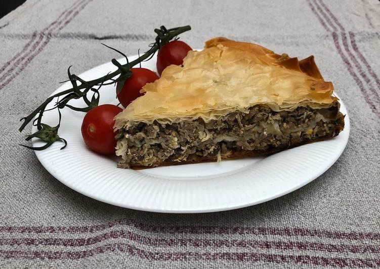 Beef & Sauerkraut Filo Pie