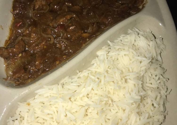 White Rice and Mongolian Beef