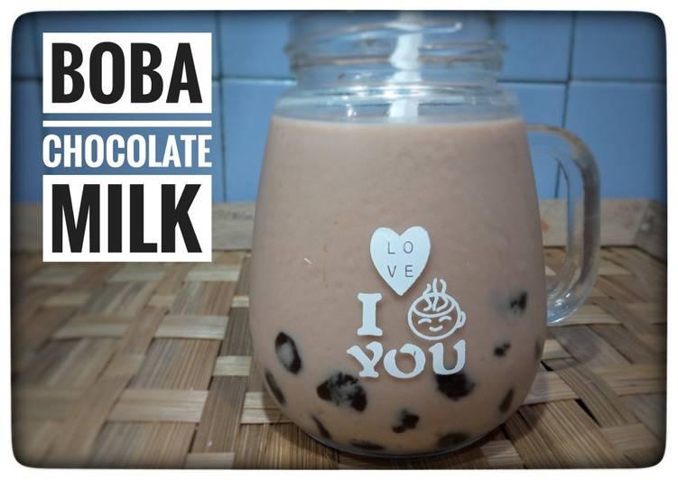 Boba chocolate milk