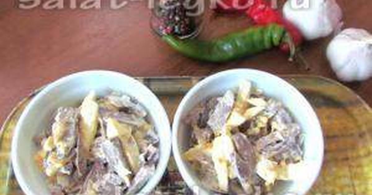Салат из сердца куриного » Рецепты - готовим дома