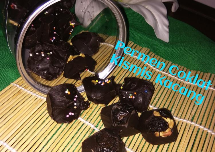 Permen Coklat Kismis Kacang