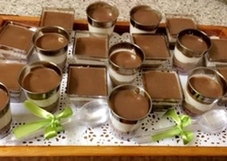 Chocolate & Vanilla Moose with Cake