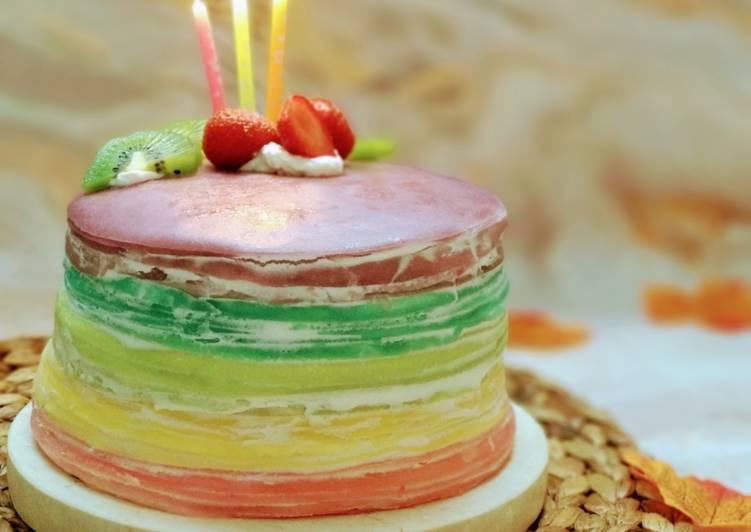 Rainbow Crepes Cake