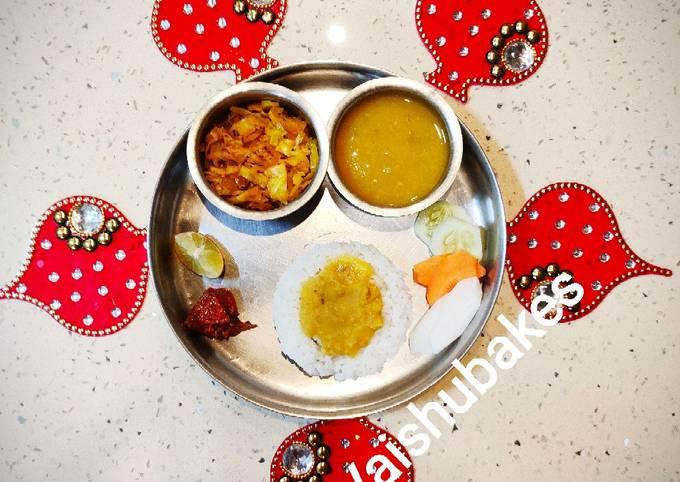 Maharashtrian Varan Bhaat or Tuvar Dal and Steamed Rice