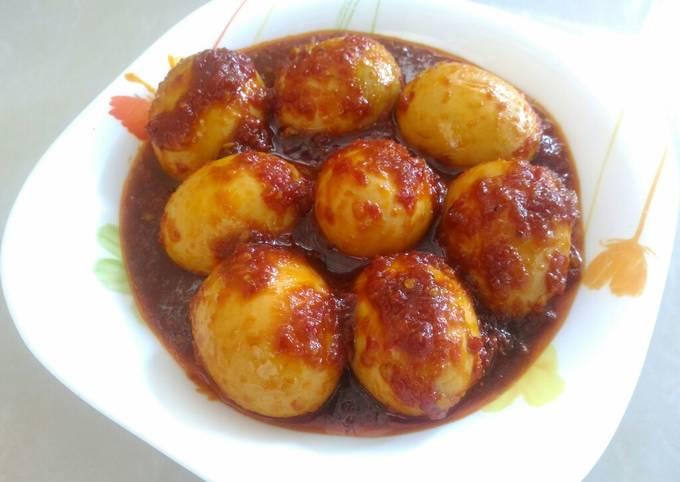 Resep Telur Balado Simple Oleh D Hera Cookpad